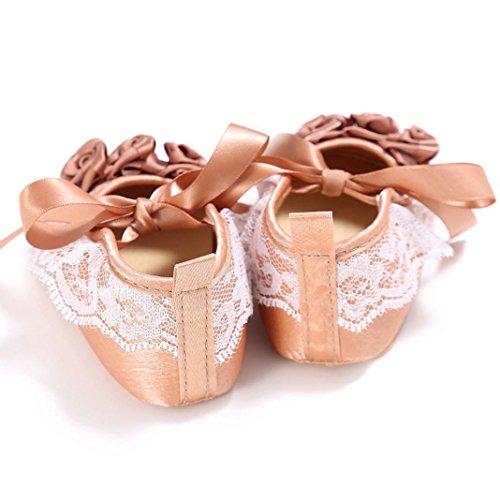 Babyschuhe Jamicy® Baby Jungen Mädchen Bowknot Schuhe Sneaker Anti-Rutsch Soft Sole Kleinkind Sneakers (0 ~ 6 Monate, Lila) Kaffee