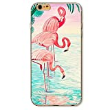 SecondDromi Süßes Flamingo Drink Muster Soft (TPU) hülle für iphone 5S,für iPhone SE,Pink