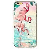 SecondDromi Süßes Flamingo Drink Muster Soft (TPU) hülle für iPhone 5S,für iPhone SE,Pink