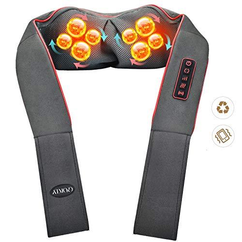 ATMOKO Nackenmassagegerät, Shiatsu Schulter Massagegerät Elektrisch mit mit Taillen-Design