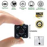 Mini Spy Cam 1080 HD La Telecamera Videosorveglianza Più Compatta Dotata di Rilevatore di Movimento e Supporto Infrarossi Per Visione Notturna Anche Come Action Cam o Webcam Registrazione Su Micro SD