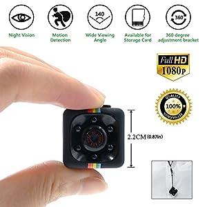venta camaras vigilancia ocultas: TDC - Camara Espia Mini HD 1080 - Cámara De Vigilancia Compacta Equipada Con Gra...