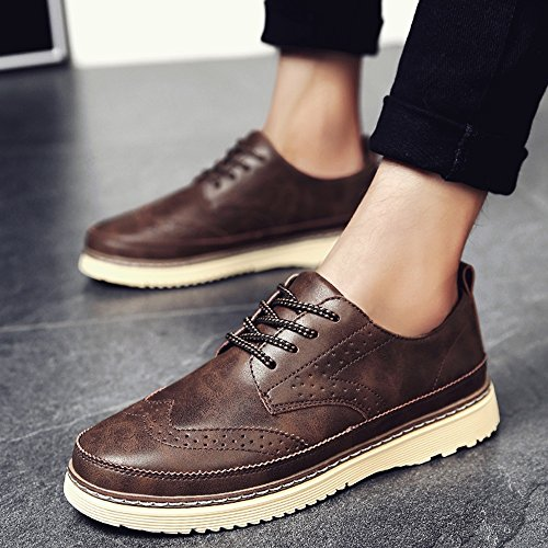 FEIFEI Scarpe da uomo Winter Fashion Casual Retro Leather Shoes 3 Colors ( Colore : 01 , dimensioni : EU43/UK9/CN44 ) 01