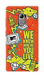 MTV Gone Case Mobile Cover for Lenovo Vibe K4 Note