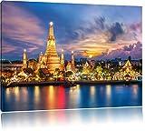 Wat Arun Nachtansicht Tempel Bangkok Thailand, Format: