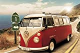 1art1 48814 Autos - VW Bus, Bulli, Kalifornien, Route One Poster (91 x 61 cm)