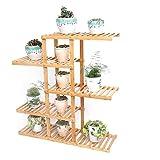 HZH Balcone Flower Shelf Multilayer Bamboo Creative Rack Pastorale Piante grasse Verde Luo Flower Pot Shelf Landing ( Size : Five layers )