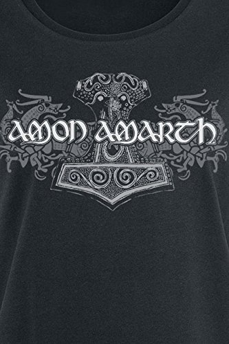 Amon Amarth Viking Horses Girl-Shirt Schwarz Schwarz