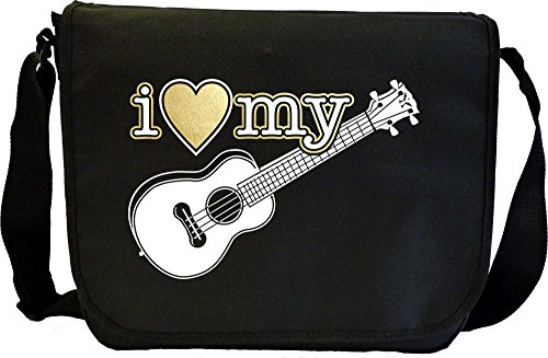 Ukulele I Love My - Sheet Music Document Bag Musik Notentasche MusicaliTee