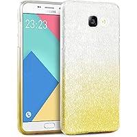 Coque Samsung A3 2016, TheBlingZ.® housse étui de protection [Hybrid Case] Etui de couverture Bling Bling avec brillants en TPU - Yellow Shading