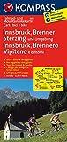 Innsbruck - Brenner - Sterzing: Fahrrad- und Mountainbikekarte. GPS-genau. 1:70000 (KOMPASS-Fahrradkarten International, Band 3411)