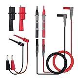Juego de cables de prueba, mecotech 8unidades Multímetro electrónico Kit de cables de medición accesorios con puntas de prueba pinzas de cocodrilo accesorios para el colegio Laboratorio fábrica