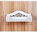 Desktop Storage BoxIl router di ammettere il set-top box a parete rack fiore paratia cremagliere (33*30*14cm)