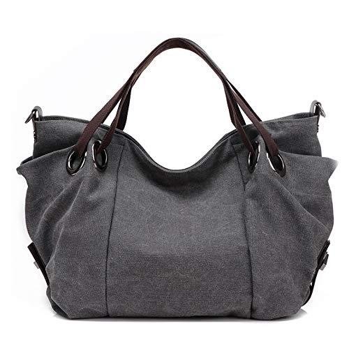 Holywin Nuova borsa di tela a tracolla di tela casual casual popolare nuova borsa a tracolla della maniglia della donna