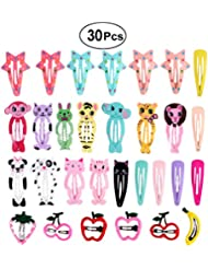 frcolor 30PC 's cartoonplaatje ontwerp- haar-clip- meisjes-metalen druk-barrettes voor kind-kinderen