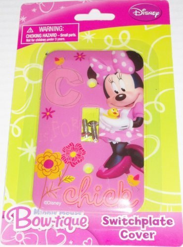 Disney Minnie Mouse Bow-tique Switchplate Cover - Baby Nursery Kids Bedroom Light Switch Wall Décor