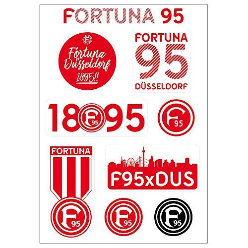 fortuna duesseldorf aufkleber Fortuna Düsseldorf Aufkleberkarte Skyline