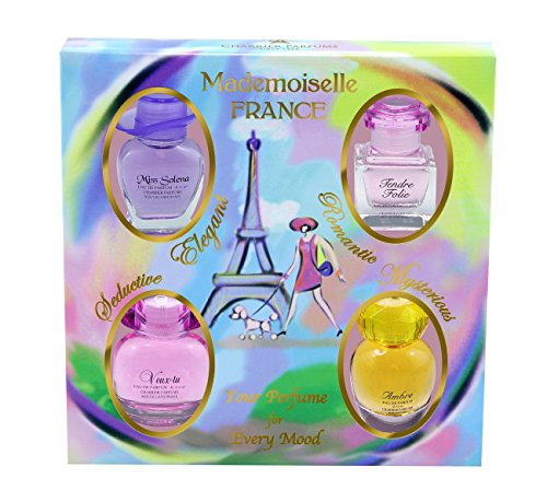 Charrier Parfums Mademoiselle France Coffret de 4 Eau de Parfums Miniatures Total 44,1 ml