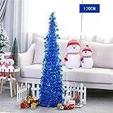 HOMEJIA 1,2 Metri Pop-up Albero di canutiglia di Natale con Supporto Splendido Albero di Natale Artificiale Pieghevole per Decorazioni domestiche di Natale (Blu)