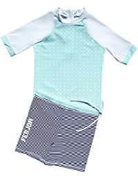 458c286823703 FEDJOA T Shirt Anti UV avec Short - Maillot Fille - Amandine - Innovation  Anti Sable