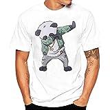 Oversize Shirt Herren Basic T-Shirt Männer Kurzarm Longshirt Printing Tees Shirt Kurzarm T-Shirt Bluse Bedruckte T-Shirts Sommer Sunday (L, B)