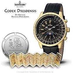 "Kronsegler ""Codex Dresdensis"" Maya Calendar Watch gold - black"