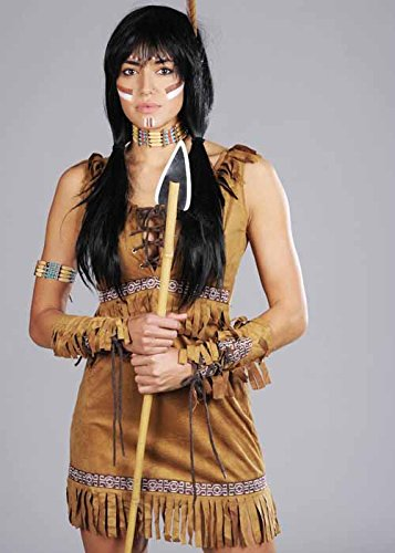 Magic Box Int. Erwachsene Frauen indische Prinzessin Pocahontas Kostüm Small (UK 8-10) (Frauen Pocahontas Kostüm)