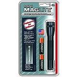 Mag-Lite M2A01H Mini - Linterna mini (14,5 cm, dos pilas AA, funda de nailon), color negro