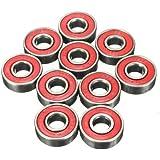 Roulements - SODIAL(R)10 ABEC 7 ABEC-7 608 roulements de roue pour la planche a roulettes cascadeur scooter quad patin a roues alignees