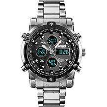 444680ef1de6 Reloj analógico Digital para Hombres - Reloj Deportivo Militar para Hombre  con Alarma Cuenta Regresiva