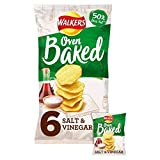 Walkers Salt & Vinegar Baked Snacks 6 x 25 g