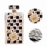 Bling Bling iPhone 8 Hülle, MingKun TPU Diamant Handyhülle für iPhone 7 / iPhone 8 Case Cover Silikon Crystal Glitzer Handy Tasche Schale - Parfüm Schwarz