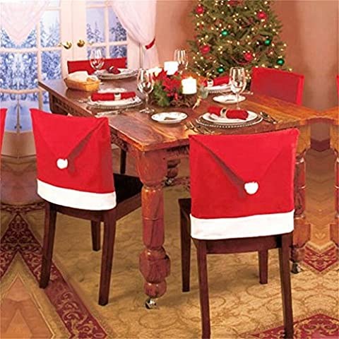 Decorie Simplicity Lovely Chair Covers with Red Cap for Christmas Dinner Decor 60*50cm