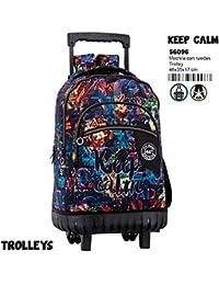 Montichelvo Montichelvo Trolley CG Keep Calm Bolso de Viaje, 46 cm, (Multicolour)