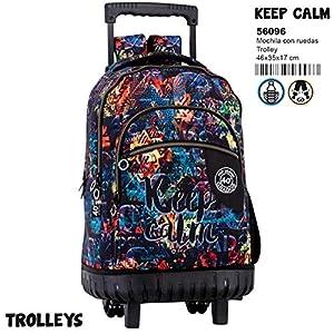 51Q R8KONcL. SS300  - Montichelvo Montichelvo Trolley CG Keep Calm Bolso de Viaje, 46 cm, Multicolor (Multicolour)