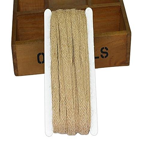 32pieds en toile de jute Ficelle Corde de chanvre Ficelle d'emballage Idéal pour DIY Craft Décoration et jardinage Outils à