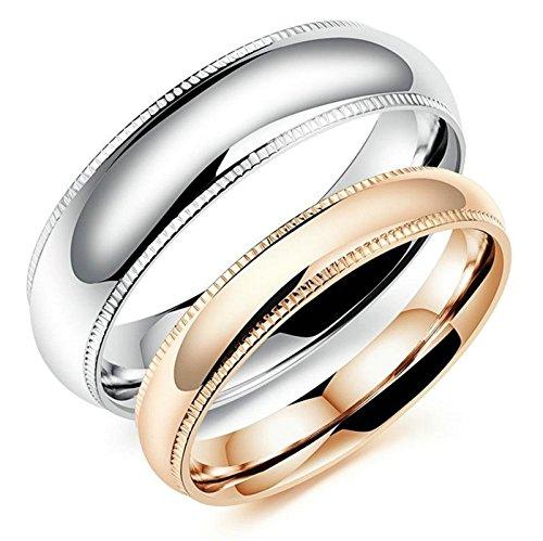 SanJiu Schmuck Herren Ringe Edelstahl Ring Rad Form Partnerringe Freundschaftsringe Eheringe Trauringe Verlobungsringe für Herren Silber Größe 57 (18.1) (Tee Mens Fleur)