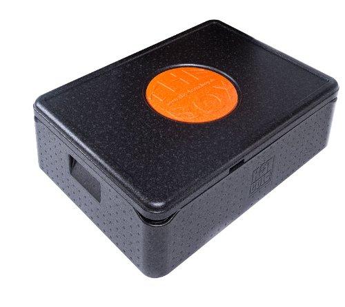 BOX Thermobox Universal klein, Art. 79800; schwarz, Außenmaß 68,5 x 48,5 x 22,5 cm, Innenmaß 62,5 x 42,5 x 16 cm, Nutzhöhe 16 cm, 42 l.