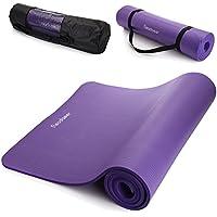 Readaeer Tapis de Yoga/Fitness pour Gym/Pilates/Sport 183 x 61 x 1 cm avec étui et sangle