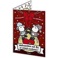 """Sheepworld 49663 Adventskalender für Liebespaare """"Weihnachten mit dir ist einfach wunderbar! Schön, dass es Dich gibt"""", mit Schokolade"""