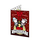 Sheepworld 49663 Adventskalender für Liebespaare 'Weihnachten mit dir ist einfach wunderbar! Schön, dass es Dich gibt', mit Schokolade
