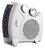Heizlüfter Adler AD77 mit zwei Leistungsstufen, Thermostat zur Regulierung der Temperatur, integrierte Kaltstufe, Schutz vor Überhitzung, vertikaler und horizontaler Stand möglich, inkl. Thermometer -