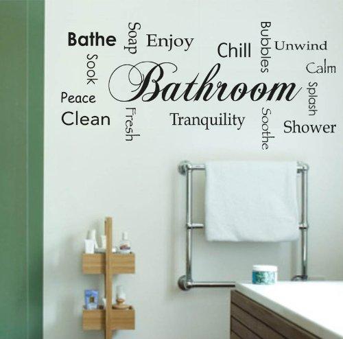 Adesiviamo - 710-l decoración para su cuarto de baño, diseño de pared - pegatinas de pared de vinilo adhesivo etiquetas