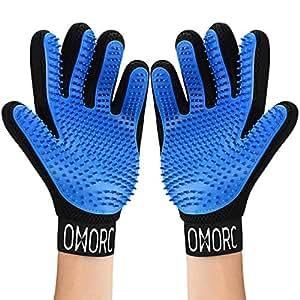 OMORC 2PCS Haustier Bürsten Handschuh - 369 Weiche Gummi
