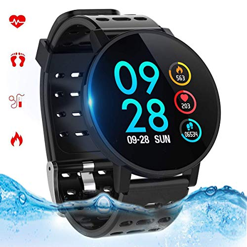 Smart Watch Fitness Tracker Smart Armband Fitnessuhr mit Herzfrequenz IP67 Wasserdicht Kompatibel mit Bluetooth 4.0 oder höher(T3-3) - Tablet-armband
