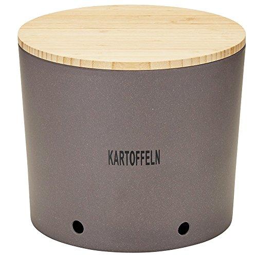 Magu Kartoffeltopf Natur-Design in Schiefer, Bambusfasern, Getreidestärke, Holzfaser, 28 x 28 x 8 cm -