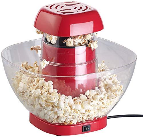 Rosenstein & Söhne Popcorn-Selbermachen: Heißluft-Popcorn-Maschine mit Auffangschale, für 80 g Mais, 1.200 Watt (Popcorngeräte)