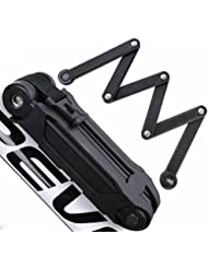 frideko hierro seguridad bicicleta armas candado plegable para bicicleta con soporte y llaves