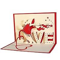 Specifiche: Tipo: biglietto di auguri. Materiale: carta. Caratteristiche: bellissimo albero d'amore, design pop up 3D, regalo romantico. Dimensioni: 10 cm x 15 cm (circa). Note: Il colore originale dell'articolo potrebbe differire legg...