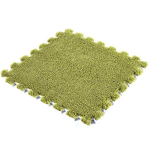 JYCRA ineinandergreifende Schaumstoff MATTEN, 9Flauschig Gummibodenmatte Teppich Fliesen Plüsch...
